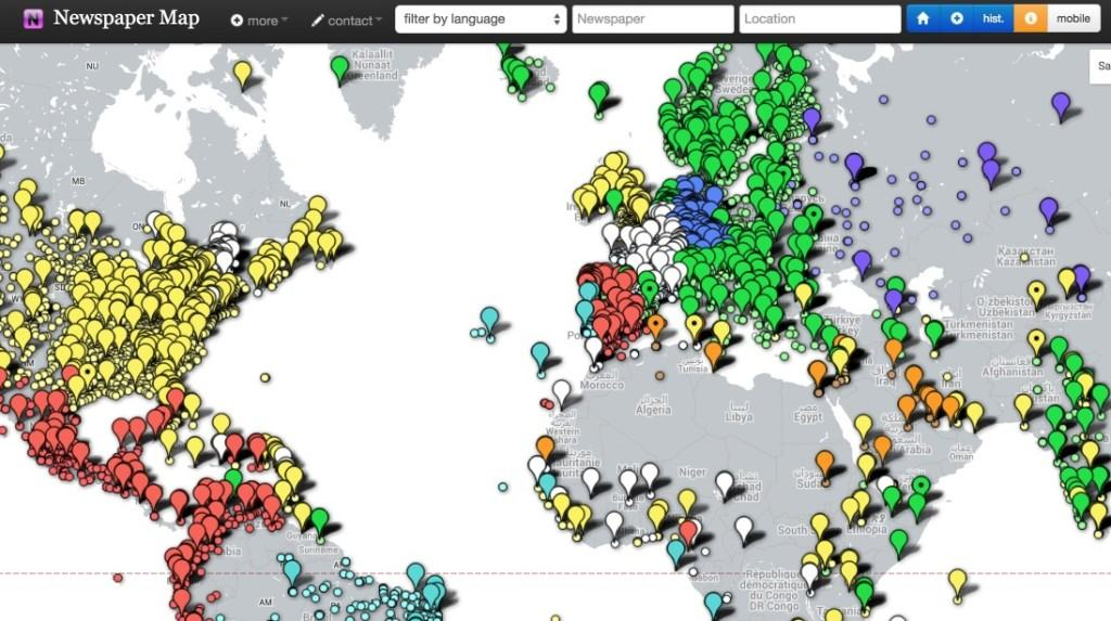 NewsPaper Map