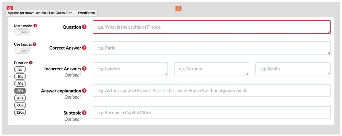 quizalize question