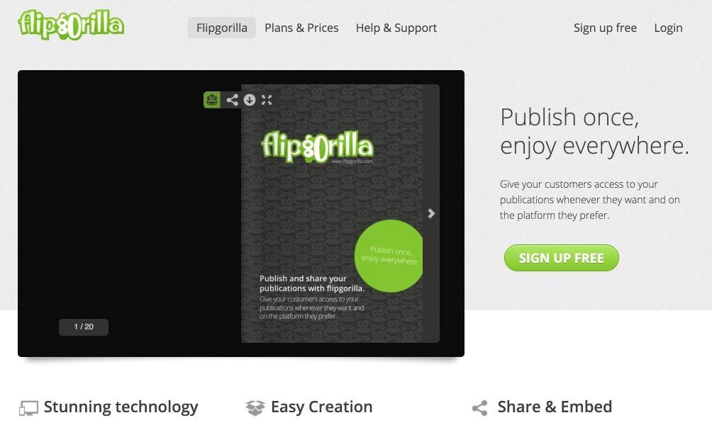 Préférence FlipGorilla. Créer un flipbook en ligne – Les Outils Tice PI17