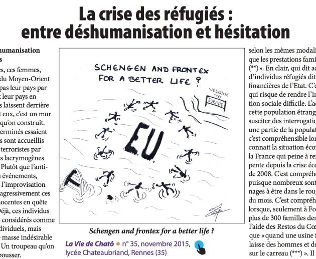 dessin réfugies