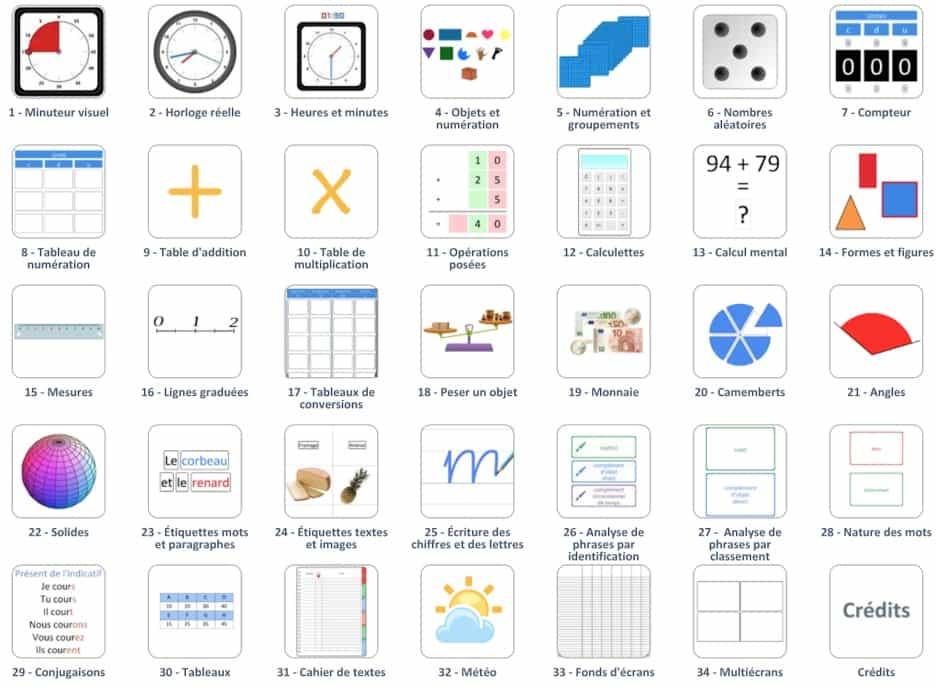34 outils pour la classe