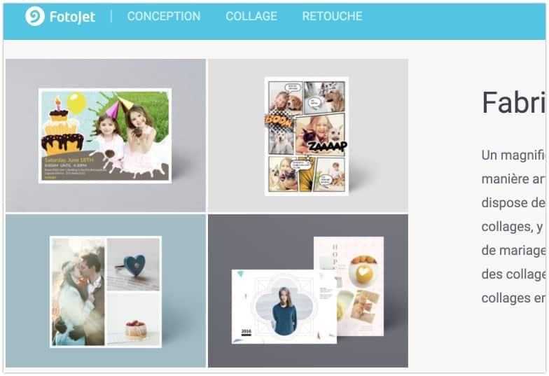 Fotojet collage photos